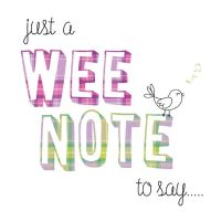 Pink Pig - Card - A Wee Note